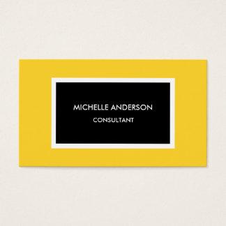 Modern Yellow Black Minimalist Professional Business Card