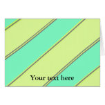 Modern yellow blue diagonal stripes greeting cards