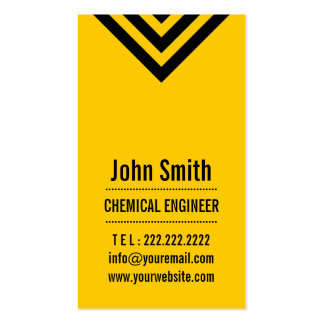 Modern Yellow Chemical Engineer Business Card