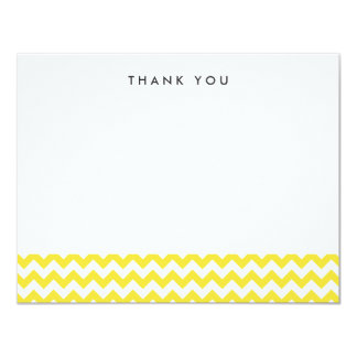 "Modern Yellow Chevron Thank You Note Cards 4.25"" X 5.5"" Invitation Card"