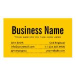 Modern Yellow Civil Engineer Business Card