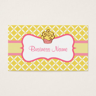 Modern Yellow Cupcake Business Card