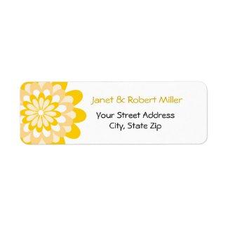 Modern Yellow Flower Pattern