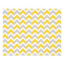 Modern Yellow Gray White Chevron Pattern Flyer