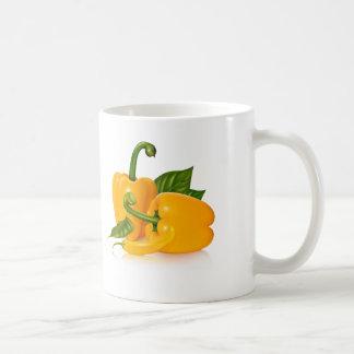 Modern Yellow Green Grocery Pattern Coffee Mug