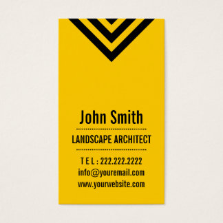 Modern Yellow Landscape Architect Business Card