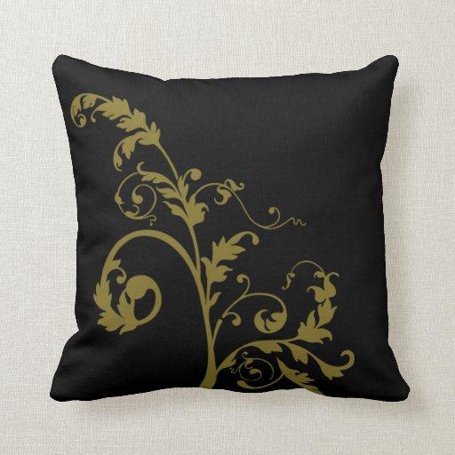 Modern Yellow Pillow : Modern Yellow Leaf Pillow Zazzle