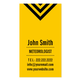 Modern Yellow Meteorological Business Card