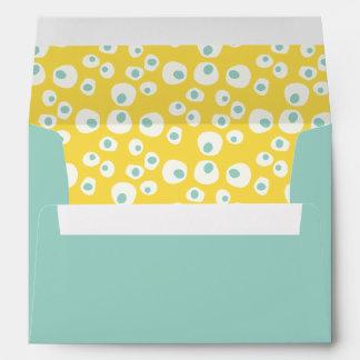 Modern Yellow Mint Gender Neutral Cute Baby Shower Envelope