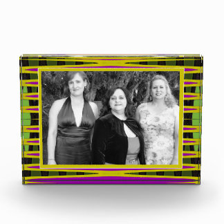 modern yellow pink abstract photo frame awards