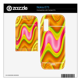modern yellow pink abstract skins for the nokia e75