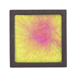 Modern Yellow Pink Rose Abstract Explosion Gift Box