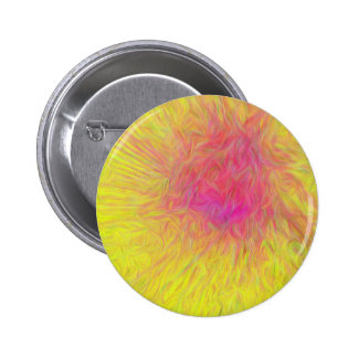 Modern Yellow Pink Rose Abstract Explosion Pinback Button