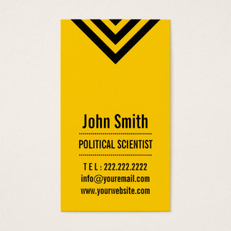 Modern Yellow Political Scientist Business Card