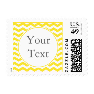 Modern Yellow Postage Stamp w/ Custom Text Stamps