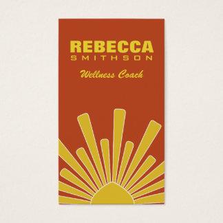Modern Yellow Professional Personal Wellness Coach Business Card