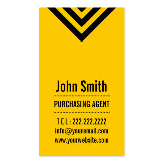 Modern Yellow Purchasing Agent Business Card