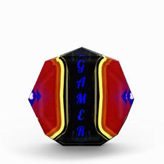 Modern Yellow Red Blue 'Gamer' Artistic Design Award