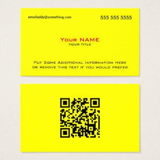 Modern Yellow Red QR Code Business Card