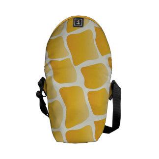 Modern Yellow Shaded Giraffe Pattern Messenger Bag