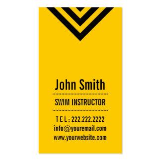 Modern Yellow Swim Instructor Business Card