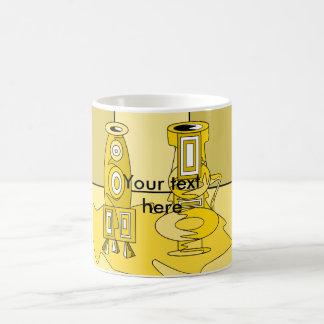 Modern yellow vases classic white coffee mug