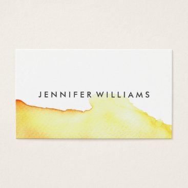 Professional Business Modern Yellow Watercolor Wash | Business Cards