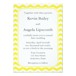 Modern Yellow Wedding Invitations or Announcements