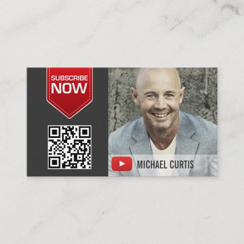 Modern YouTuber  YouTube Channel Business Card