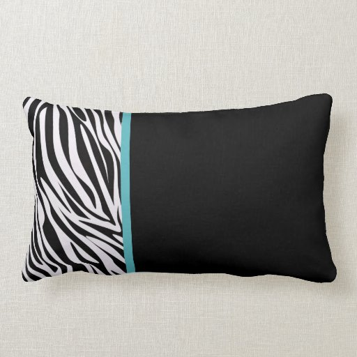 Modern Lumbar Pillows : Modern Zebra Lumbar Pillows Zazzle