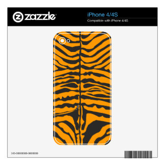 Modern Zebra Pattern - Bold Golden Decal For iPhone 4