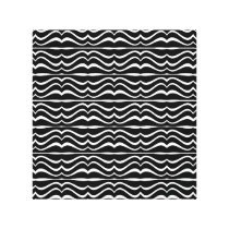 Modern Zebra Pattern Canvas Print