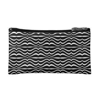 Modern Zebra Pattern Cosmetic Bag