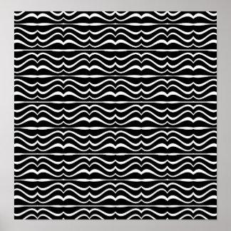 Modern Zebra Pattern Poster
