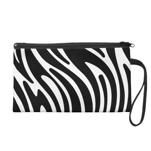 Modern Zebra Print - B&W Wristlet