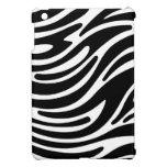 Modern Zebra Print iPad Mini Case (black & white)