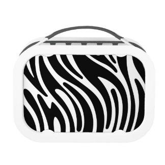 Modern Zebra Print Lunchbox (black)