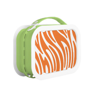 Modern Zebra Print Lunchbox (orange)