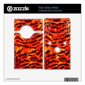 Modern Zebra Print Pattern Black Gold Tangerine Skin For The Flip Mino