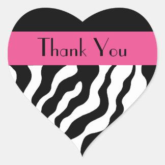 Modern Zebra Thank You Stickers
