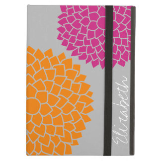 Modern Zen Flowers - Pink Orange Gray iPad Air Case