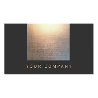 Modern Zen Glow Faux Gold Foil Black Double-Sided Standard Business Cards (Pack Of 100)