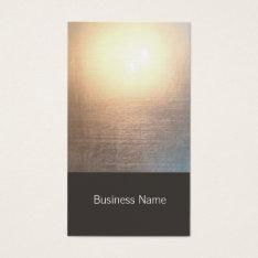 Modern Zen Glow Yoga And Healing Arts Business Card at Zazzle