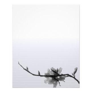 Modern Zen Spring/ Black&White Floral Business Flyer