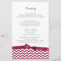 Modern Zig Zag Berry and Grey Itinerary