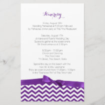 Modern Zig Zag Purple and Grey Itinerary