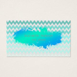 Modern Zigzag ,Chevron,Paint Brush Business Card