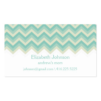 Modern Zigzag Mommy Calling Card Business Card