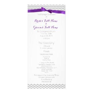 Modern Zigzag Pattern Wedding Program Rack Card Template