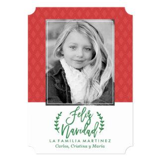 Moderna Feliz Navidad   Tarjeta De Navidad Card